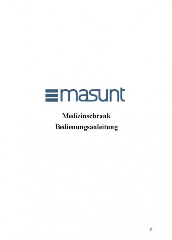 Masunt Medizinschrank Bedienungsanleitung
