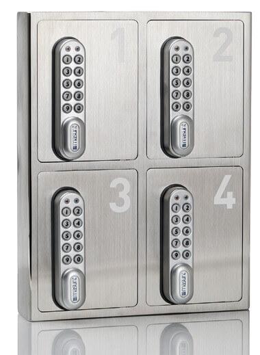 masunt Schlüsselsafe 4er für sichere Schlüsselübergabe an Hotelgäste