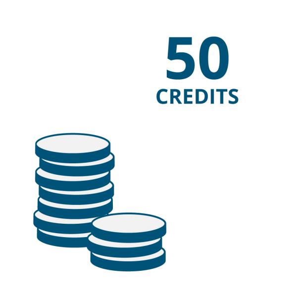 """Guthaben für Onlinecode-Funktion der """"E Code"""" Produkte: 50 Credits"""